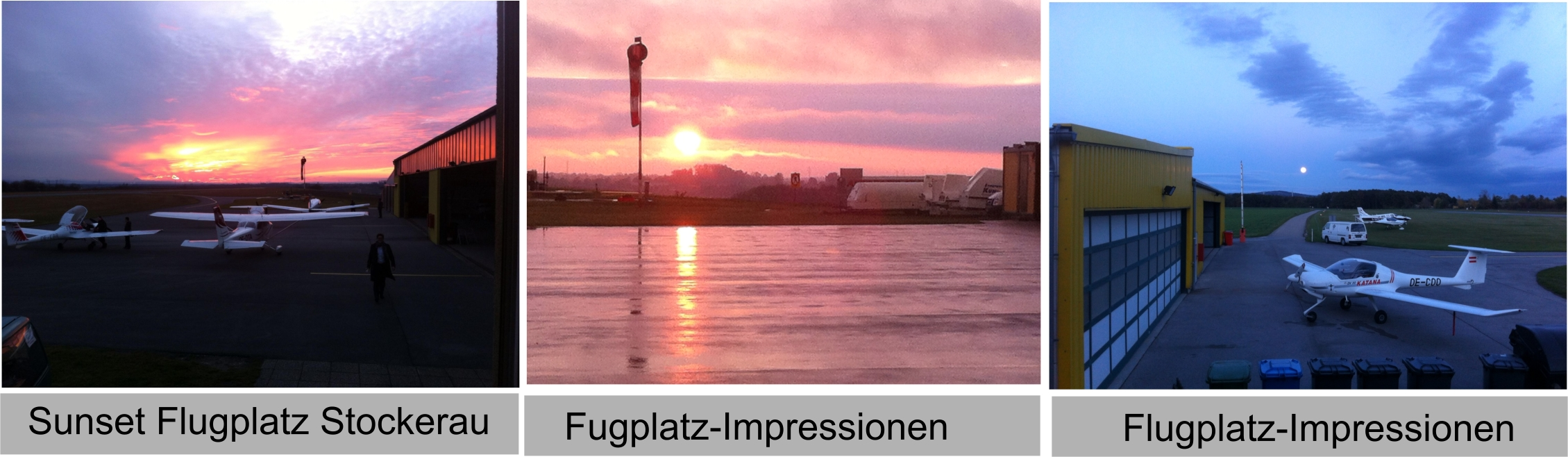 Flugplatz Sunset Impressionen